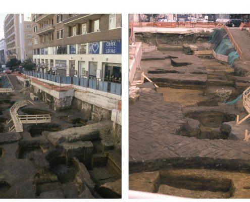 stazione toledo - ritrovamenti archeologici