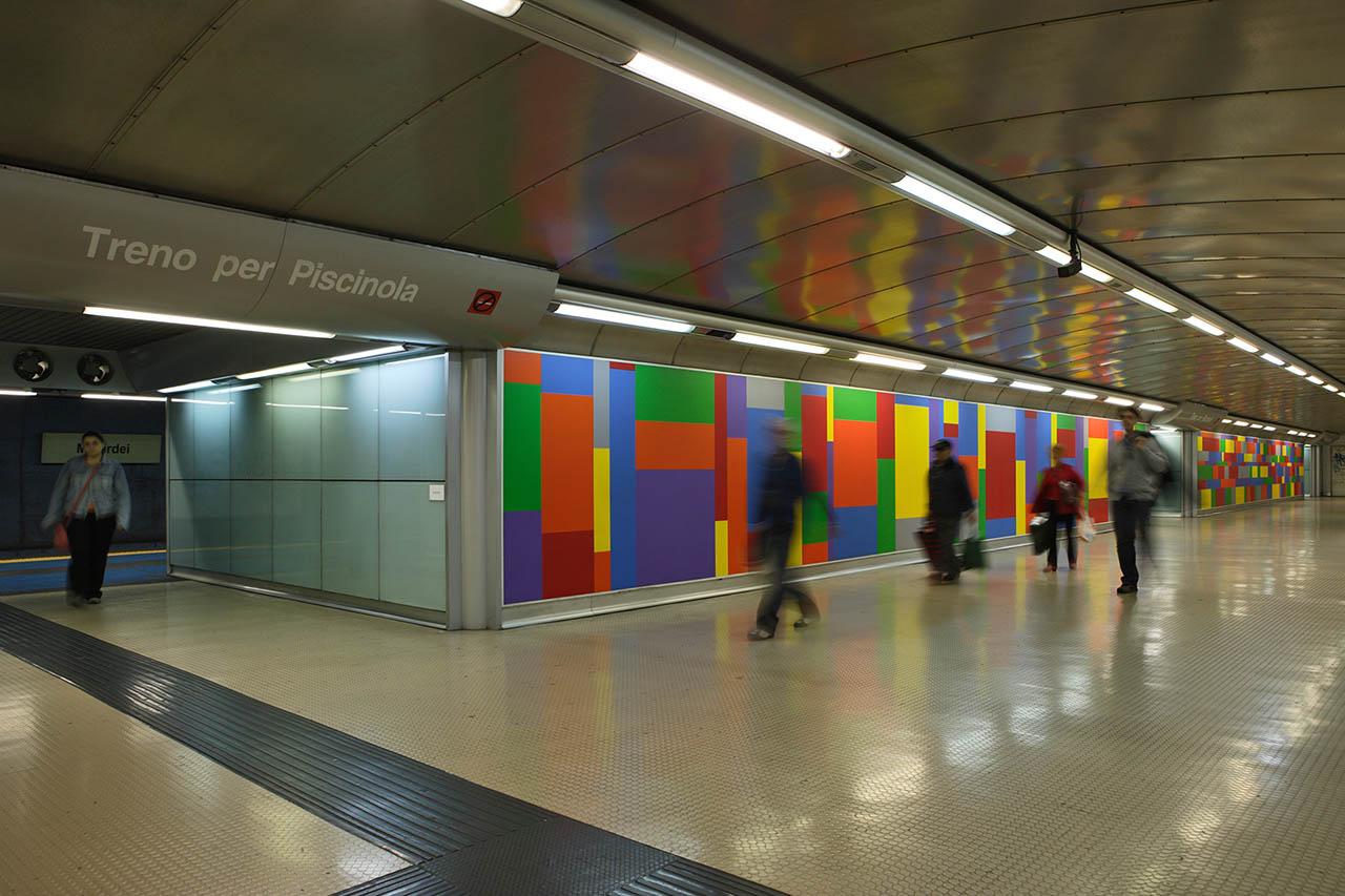sol lewit - stazione materdei - metropolitana di napoli