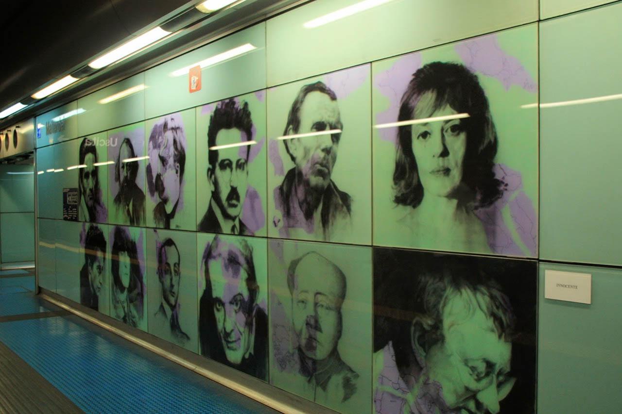 Innocente Maria Scardoni - stazione materdei - metropolitana di napoli