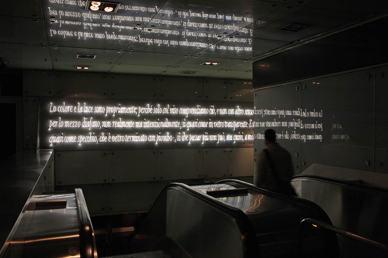 stazione dante - Joseph Kosuth - metropolitana di napoli