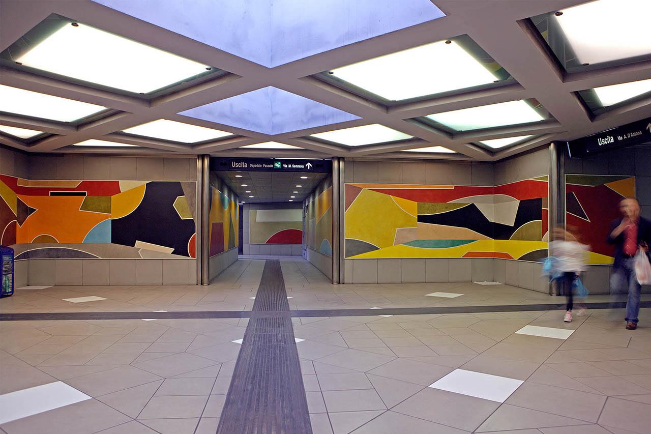 David Tremlett - stazione rione alto - metropolitana di napoli