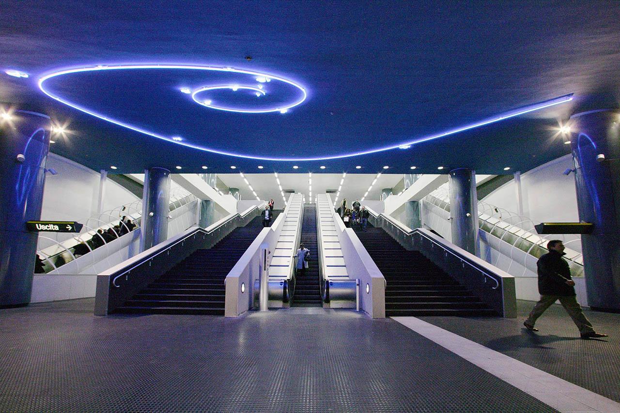 mario merz - stazione vanvitelli - metropolitana di napoli