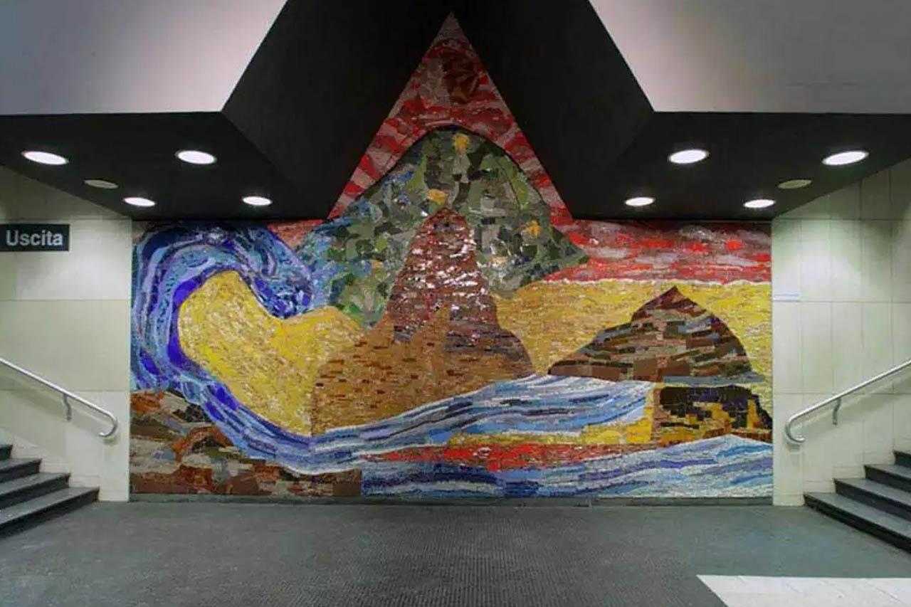 Isabella Ducrot - stazione vanvitelli - metropolitana di napoli