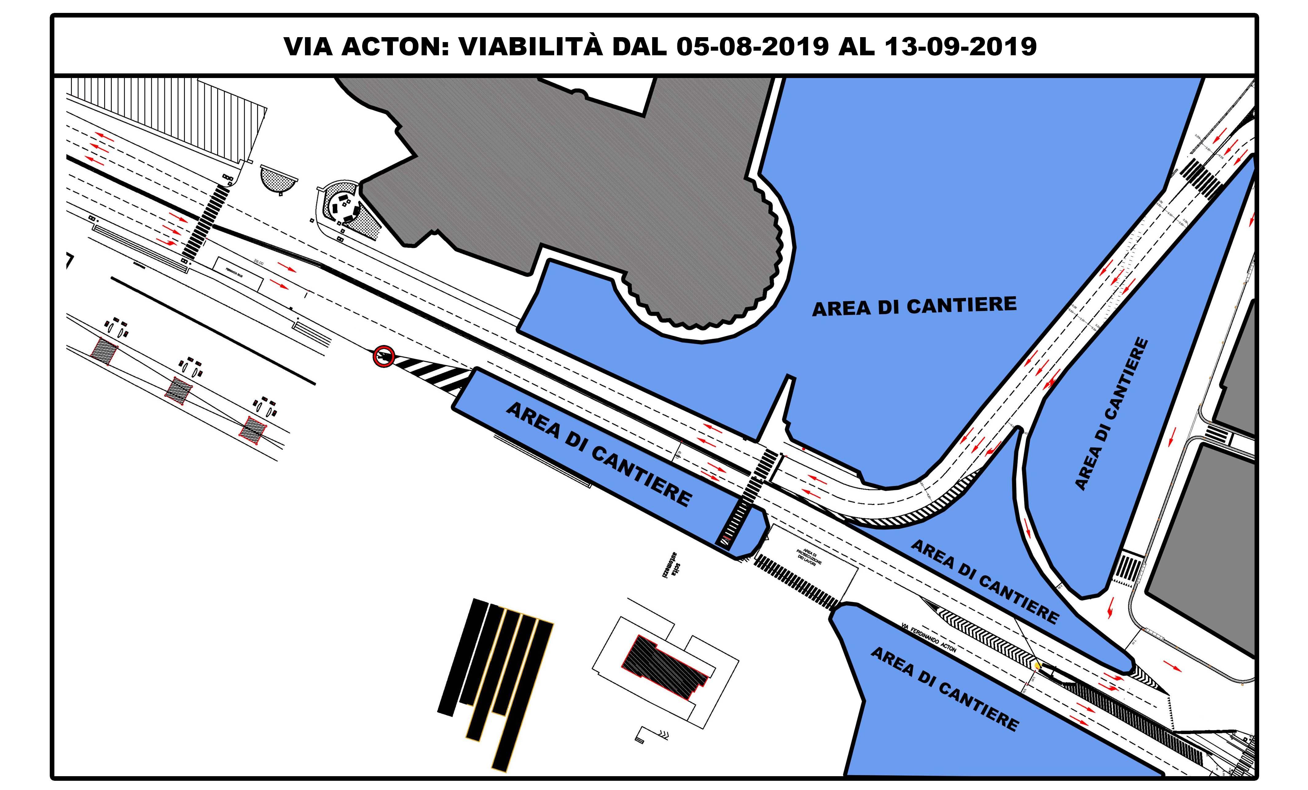 viabilità - via acton - stazione municipio